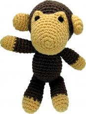 Gehäkelter Affe, braun-beige