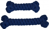 Tau-Knochen kornblumenblau, 2 verschiedene Größen