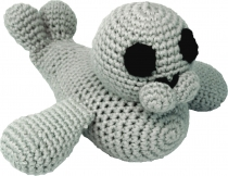 Hand-crocheted seal, grey