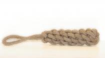 Handgearbeitetes Tau, geflochten mit Schlaufe