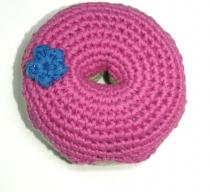Gehäkelter Donut, pink