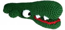 Gehäkeltes Krokodil, grün