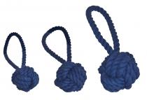 Wurfball mit Schlaufe kornblumenblau, 3 verschiedene Größen