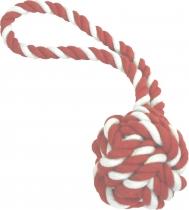 Wurfball mit Schlaufe rot-weiß gestreift, 2 verschiedene Größen
